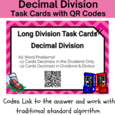 24 Long Division with Decimals- Real World Task Cards with