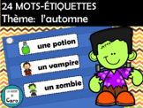 24 MOTS-ÉTIQUETTES Thème: l'automne (French Word Wall Cards)