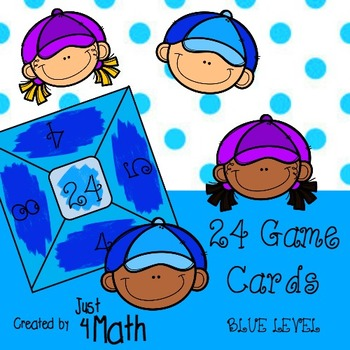 24 Math Game Cards for Advanced BLUE Level
