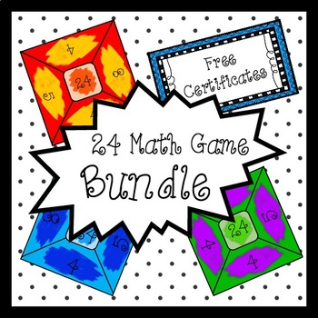 24 Math Game Cards for All Levels (Bundle Discount)