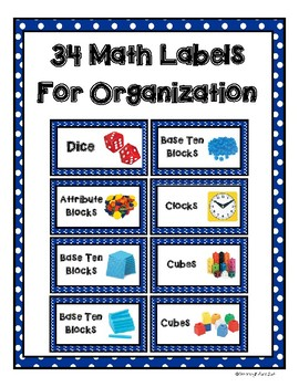 32 Math Labels for Organization