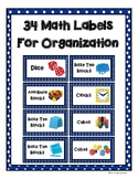 34 Math Labels for Organization
