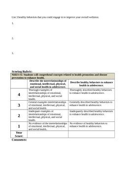 24 Middle School Health Lessons-Bundled: 3 Lessons per Standard