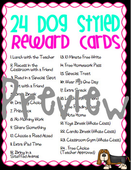 24 Motivational Reward Coupon Cards