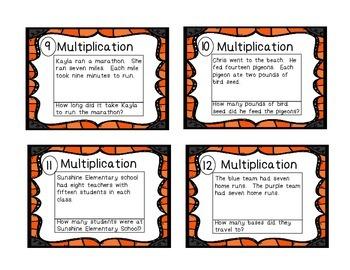 24 Multiplication Task Cards