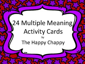 24 Multple Meaning Words Activity Cards
