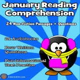 January Reading Comprehension - 24 Non-Fiction Passages - AUDIOBOOKS