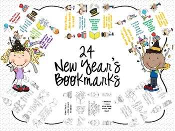 24 New Year's Bookmarks