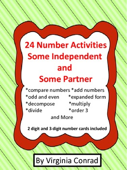 Number Games for One or Partner---2 Levels of Play