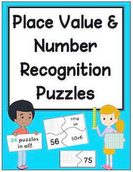 24 Place Value and Number Recognition Puzzles