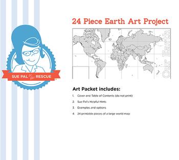 24 Piece Earth Art Project