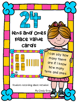 24 Place Value Cards with Popsicle Sticks
