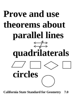 24 Posters for Geometry Standards