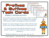 24 Prefixes & Suffixes Task Cards for Grades 2, 3, 4 {Lite