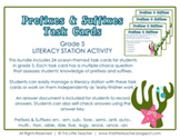 24 Prefixes & Suffixes Task Cards for Grade 5 {Literacy Station}