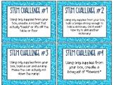 24 STEM Challenge Cards - Glitter