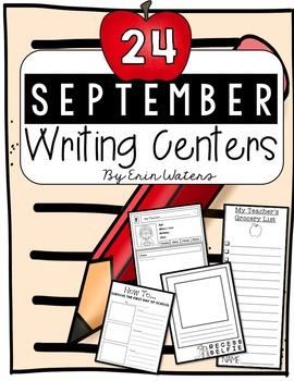 24 September Writing Centers