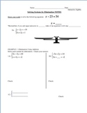 24) Solving Systems of Equations by Elimination Guided Notes