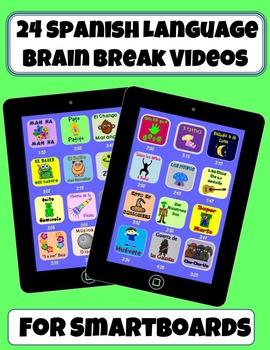 *24 Spanish Brain Break Videos* (SMART Notebook Version)