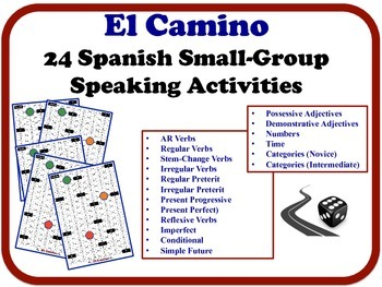 24 Spanish Small-Group Speaking Activities.  Quick Set-Up, No Prep