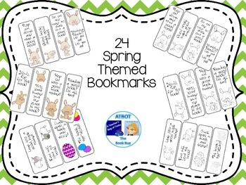 Spring Themed Bookmarks
