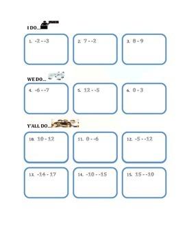 2.4 Subtracting Integers