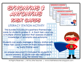 24 Synonyms & Antonyms Task Cards for Grades 2, 3, 4 {Literacy Station}
