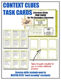 24 Task Cards - Context Clues and Determining Word Meaning