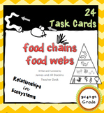 24 Task Cards Food Chains Food Webs