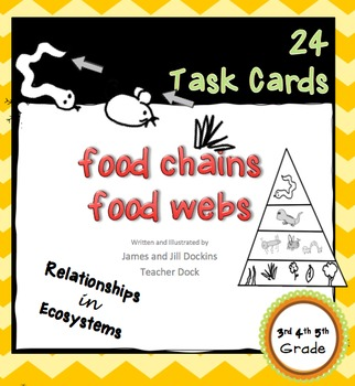 24 Task Cards Food Chains Food Webs
