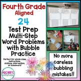 24 Test Prep Fourth Grade Multi-Step Word Problems w/ Bubb