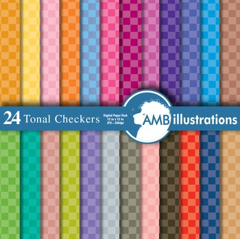 Digital Papers - Checkered Papers and Backgrounds, digital paper AMB-412
