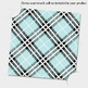 24 Turquoise Plaid Digital Papers Tartan Gingham Check