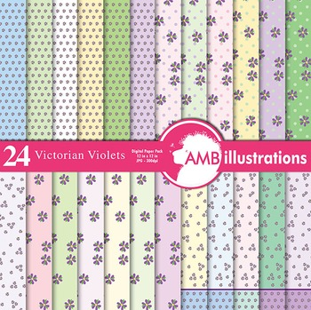 Digital Papers - Victorian Digital Paper and Backgrounds, AMB-424