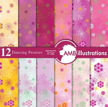 Digital Papers - Victorian Style Digital Paper and Backgrounds, AMB-425