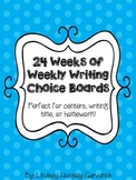 24 Weeks of Writing Choice Board Prompts