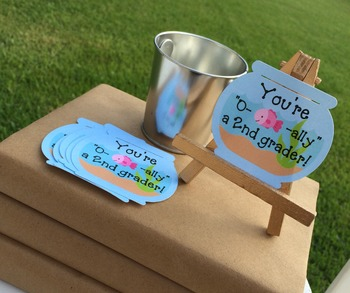 24 Welcome Back To School Treat Tags. O-fish-ally a 2nd grader.
