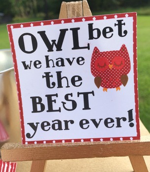 24 Welcome Back to School Treat Tags/Labels.  Owl Themed