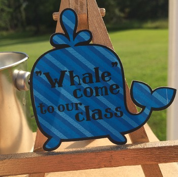 24 Welcome Back to School Treat Tags/Labels.  Whale/Sea/Ocean Themed