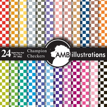 Digital Papers - Pattern papers, checkers digital paper and backgrounds AMB-414