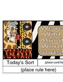 24 Wild Word Sorts Ready for Any Pocket Chart
