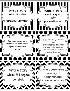 24 Writing Prompts-NOT Common Core Aligned-FREEBIE