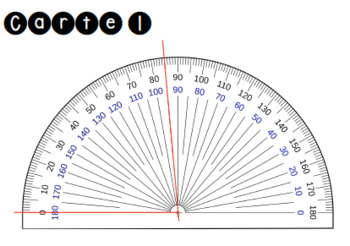 24 cartes à tâche - Mesure d'angles - Avec fiche réponse et corrigé!