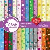Polkadot Dot Digital Papers and Backgrounds, Dot Patterns, AMB-418