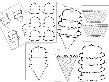 Ice cream patterns shapes and templates editable by growing smart ice cream patterns shapes and templates editable maxwellsz