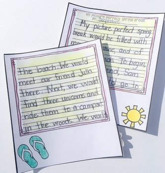 SPRING BREAK WRITING PACK AND SMALL CRAFT CCSS WRITING PROCESS
