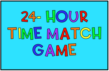 24-hour time match game