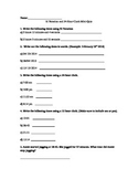 24 hour to 12 hour clock Quiz