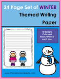 24 page Set of Winter Themed Writing Paper
