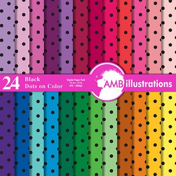 Digital Papers - Polka dot digital paper and backgrounds, AMB-409